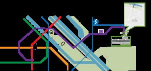 Karte mit U-Bahn Plan